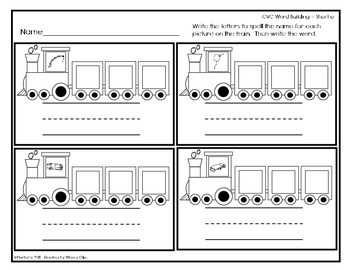 CVC Trains - Word Building - Short o
