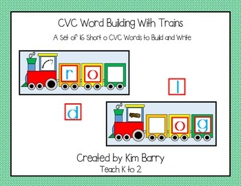 CVC Trains - Word Building - Short o