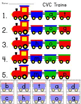 CVC Trains (worksheet)