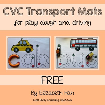 FREE CVC Transport Mats: for Play Dough and Driving