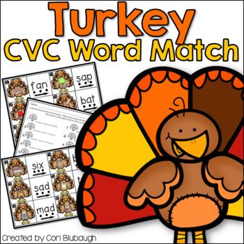 CVC Turkey Word Match-Up