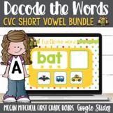 Decoding Short Vowel CVC Words using Google Slides