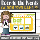 CVC Turtle out the Short Vowel Words using Google Classroom