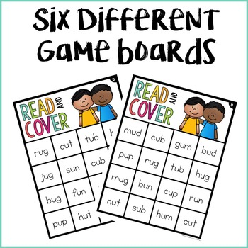 CVC U Words Read & Cover {Small Group Game}