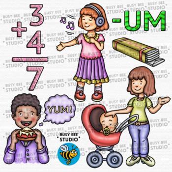 CVC -UM Word Family Clip Art