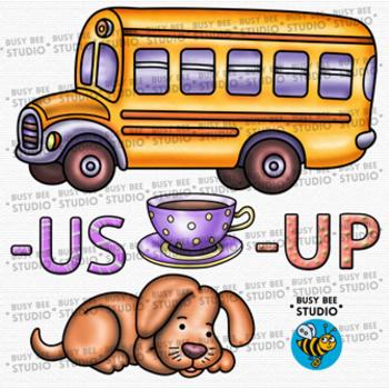 CVC -UP -US  Word Family Clip Art