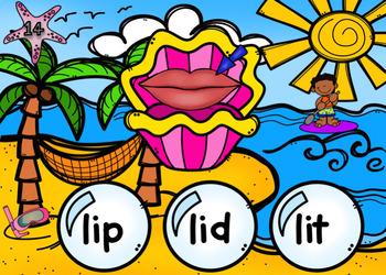 CVC Under the Sea Power Point Game (short vowel i)