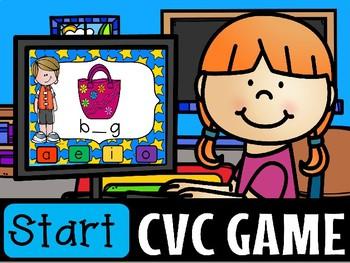 CVC VOWEL POWERPOINT GAME