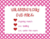 CVC Valentine's Day Pack - Rhyming, Spelling, & Writing CVC Words