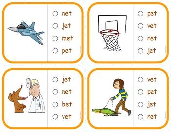 "Vocabulary: FREE Phonics Task Cards (Short ""E"")  RF.K.2d"