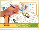 "Vocabulary: Phonics Task Cards (CVC Short ""I"")  RF.K.2d"