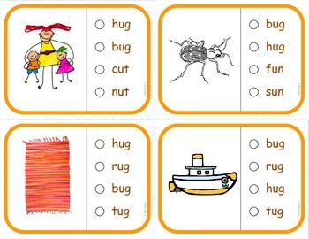 "Vocabulary: Phonics Task Cards (Short ""U"") RF.K.2d"