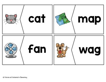 CVC Vocabulary Puzzles: Short A Set