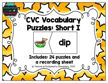 CVC Vocabulary Puzzles: Short I Set