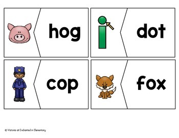 CVC Vocabulary Puzzles: Short O Set
