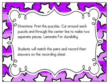 CVC Vocabulary Puzzles: Short Vowel Bundle