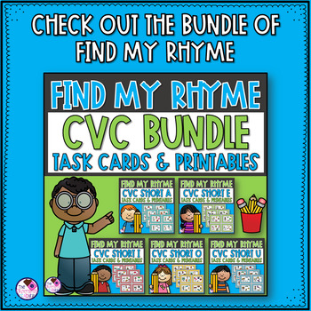 Rhyming CVC Short A Task Cards and Activities
