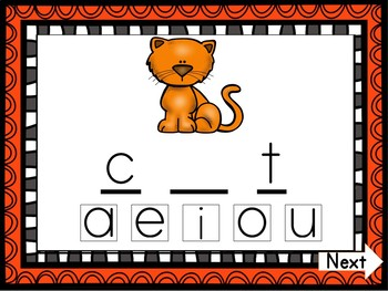 CVC Vowel Insert Digital Game - Letter A