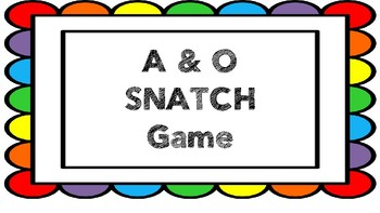 CVC Vowel A & O Phonics SNATCH Game