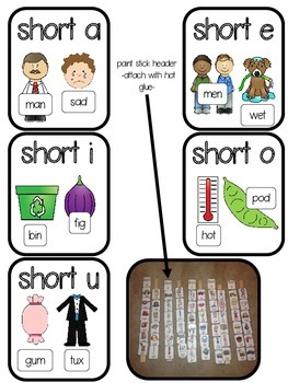 Short Vowel (CVC) Paint Stick Sort (CCSS)