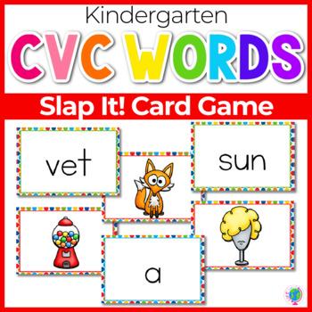 CVC Vowel Sound Slap-It! Card Game