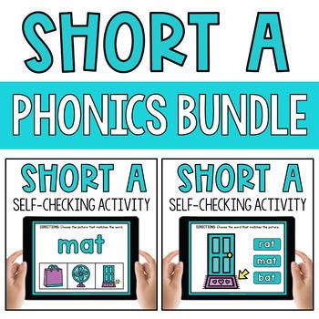 CVC Short Vowel A Word Work Paperless Interactive Google Classroom PPT BOOM Deck