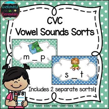 CVC Vowel Sounds Sorts