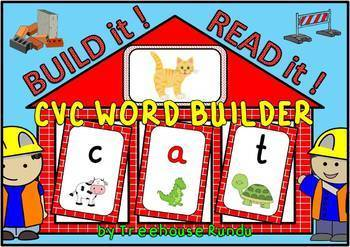 CVC WORD BUILDER - BUILD IT - READ IT - 96 CVC Words