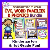 WORD FAMILIES | PHONICS | WORD WORK ACTIVITIES for FIRST GRADE BUNDLE