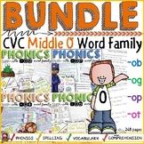 CVC WORD FAMILY BUNDLE: SHORT/MIDDLE O
