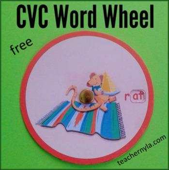 WORD WHEELS - CVC FREEBIE