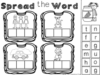 CVC WORD WORK {Color AND Cut/Paste}