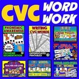 CVC ACTIVITIES FOR KINDERGARTEN (CVC WORDS CENTERS AND PHO