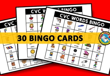 CVC ACTIVITIES: CVC WORDS BINGO GAME FOR WHOLE CLASS: CVC GAMES: WORD WORK