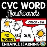 CVC WORDS FLASH CARDS PHONICS WORD WORK ACTIVITIES KINDERGARTEN