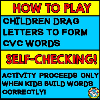 CVC WORDS INTERACTIVE GAME: BUILDING CVC WORDS GAMES: CVC ACTIVITIES