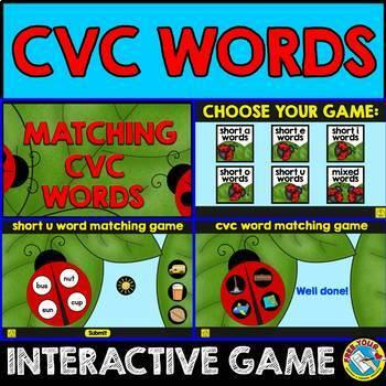 SPRING ACTIVITIES (KINDERGARTEN CVC WORDS GAME SMARTBOARD)