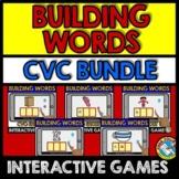 SHORT VOWEL ACTIVITY (CVC GAME BOOM CARDS BUNDLE) BUILD CVC WORD MAGNETIC LETTER