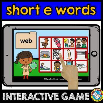 CVC WORDS INTERACTIVE GAMES BUNDLE (READING CVC WORDS BOOM CARDS)