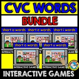 CVC WORDS INTERACTIVE GAMES BUNDLE (READING CVC WORDS) BOO