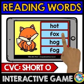 CVC WORDS INTERACTIVE GAMES BUNDLE (READING CVC WORDS BOOM CARDS PHONICS)