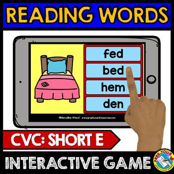BOOM CARDS READING CVC WORDS KINDERGARTEN (PHONICS BUNDLE)
