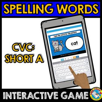 CVC WORDS DIGITAL CENTERS (SPELLING CVC WORDS BOOM CARDS BUNDLE PHONICS)