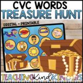 CVC WORDS SHORT VOWEL TREASURE HUNT Kindergarten Interactive DECODING Game