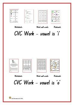 CVC WORKSHEETS - plus revision
