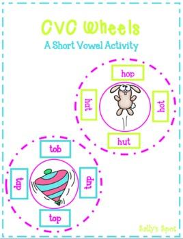 CVC Wheels - A Short Vowel Activity