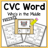 CVC Who's In The Middle (Freebie)