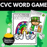 CVC March St. Patrick's Day Activity Roll and Cover Phonics Game