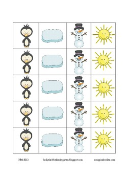 CVC Winter (Holiday) Word Family Game ~ Nonsense Words Included