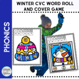 CVC Winter Short Vowel Activities Roll and Cover Phonics Game